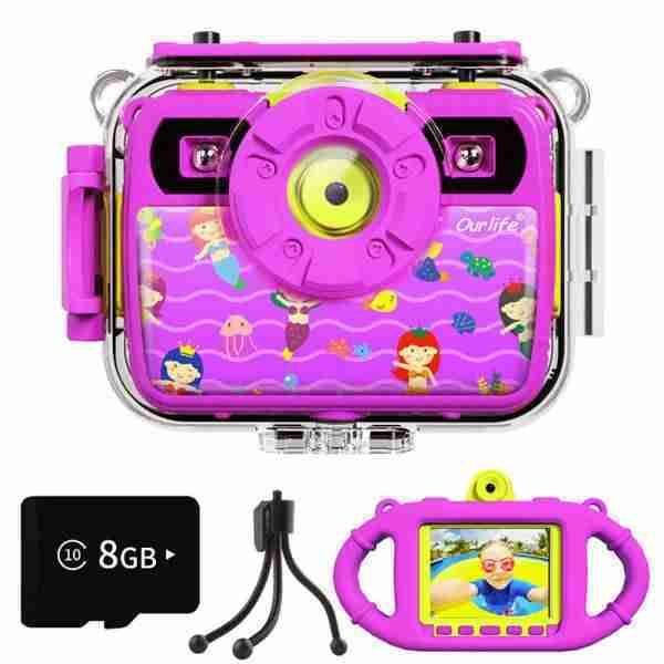 1080P Action Child Gift Cameras (purple)
