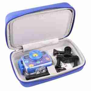 Kids Camera Bag Hard Travel Case (Blue)