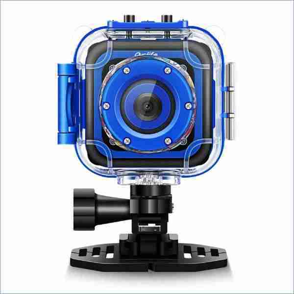 Kids Waterproof Camera with Video Recorder (Navy-Blue)