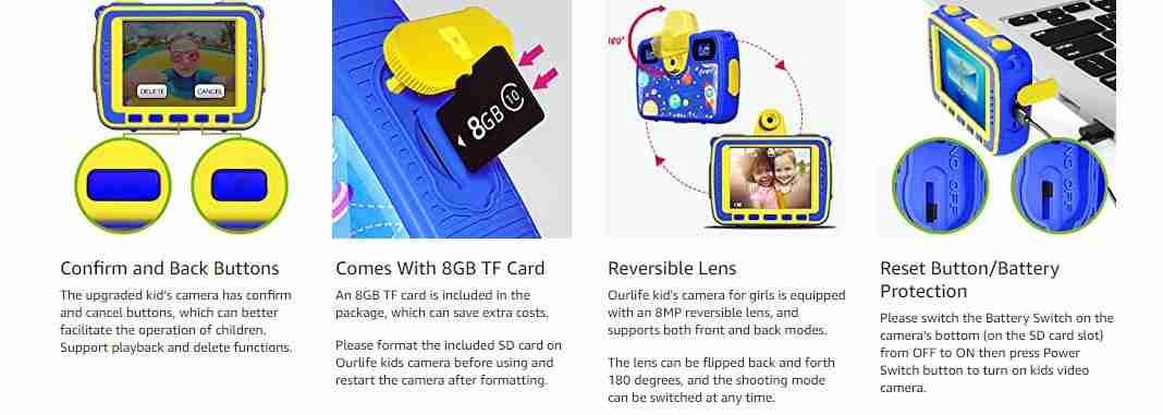 1080P Action Child Gift Cameras