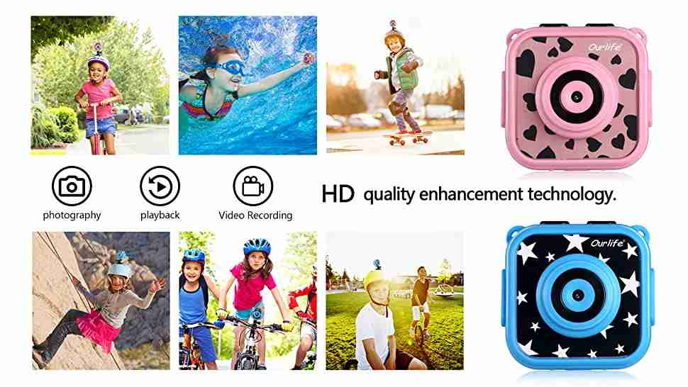 Kids Waterproof Camera with Video Recorder